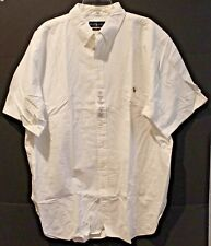 Polo Ralph Lauren Big and Tall Mens White Oxford Button-Front S/S Shirt NWT 3XLT