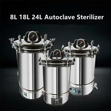 18L Stainless Steel Autoclaves Sterilizers Dental Medical Lab Equipment 220/110V