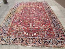 Antique Traditional Hand Made Persian Oriental Wool Red Large Carpet 320x235cm