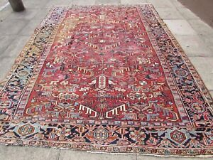 Antique Traditional Hand Made Vintage Oriental Wool Red Large Carpet 320x235cm