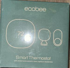 ecobee3 EB-STATE3LTVP2-01 Lite Smart Thermostat With 2 Room Sensors Black