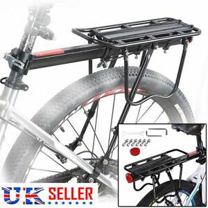 Rear Seat Aluminum Bike Rack Bicycle Mountain Mount Pannier Luggage Carrier UK