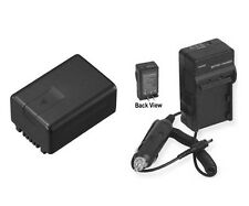 Battery + Charger for Panasonic HDC-SD60 HDC-SD60K