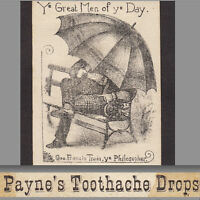 George Francis Train 1800's Toothache Gold Dust Liniment Cholera Beast Cure Card