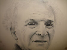 RARE ENGRAVING OF MARC CHAGALL PORTRAIT BY JACQUES COMBET PENCIL SIGNED #17/200