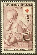 """FRANCE TIMBRE STAMP N°1048 """"CROIX ROUGE ENFANT A LA CAGE"""" OBLITERE TB"""