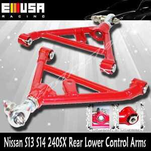 For Nissan 240SX 1989-1994 S13 1995-1998 S14 Rear Adj. Lower Control Arms RED