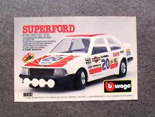 K961-Advertising Pubblicità- 1985 - BBURAGO , FORD ESCORT XR3
