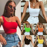 Bandeau Casual Tube Crop Top Yoga Vest Women Single Strap Bra Single Shoulder
