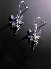 Ethereal Fairy Charm Earrings on 14K White Gold Filled French Hooks