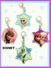 4 Authentic Disney Frozen Anna, Elsa y Olaf llavero clip en la cremallera Pul encantos