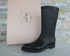 Prada Stiefel Gr 36,5 Damen boots Schuhe shoes Hirsch 1U393E schwarz UVP 770 €