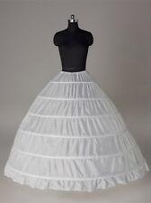 Wedding petticoat bridal 6-hoop crinoline prom underskirt slip wedding dress