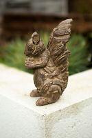 NEW Wood Effect Squirrel Garden Ornament Patio Outdoor Indoor Statue Sculpture