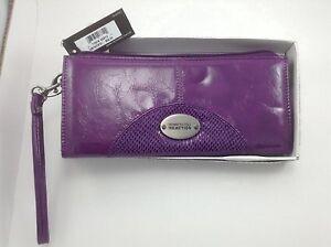 Women's Kenneth Cole Reaction LOVE Purple Leather Wallet - $54 MSRP