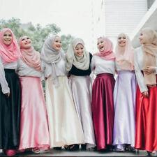 Women Maxi Bow Retro Long Skirts Muslim High Waist Ladies Ball Gown Skater Saia