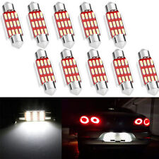 10X 36mm 4014 12 SMD LED Canbus Festoon Dome Lamp Car License Plate Light C5W