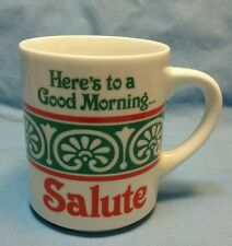 "ABBEY PRESS ""HERE'S TO A GOOD MORNING...SALUTE "" COFFEE CUP"