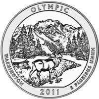 2011 5 oz America The Beautiful ATB Olympic Silver Coin .999 Fine