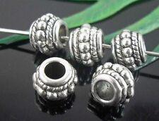 20pcs Tibetan Silver Spacer Beads 8x6mm   (Lead-free)