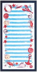 "34""x64"" Nautical Shells Premium Terry Velour Beach Towel"