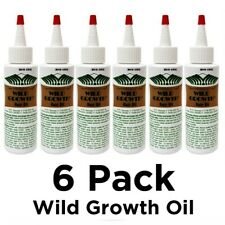 6 Lots Wild Growth Hair Oil 4 oz - Pack of 6 (Total 24 oz)