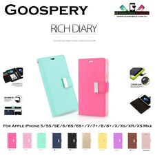 iPhone 5 / 6 / 7 / 8 / 8+ / X / XS / XR / Xs max Goospery Rich Diary wallet case