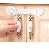 10x Kids Baby Child Pet Proof Door Gates Cupboard Cabinet Drawer Safety Locks