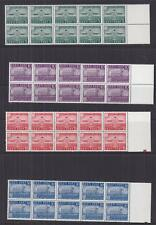 ESTONIA, 1939 Parnu Centenary set of 4, marginal blocks of 10, mnh.