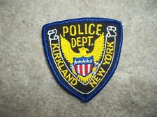 Kirkland New York Police Patch hat size approx 3 inches
