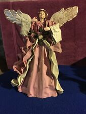New ListingChristmas Tree Topper, Crepe Feel, Wooden Wings, 12.5� high