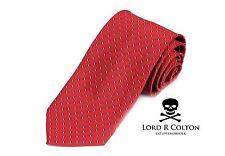 Lord R Colton Basics Tie - Red Navy Dash Woven Necktie - $49 Retail New