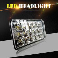 1Pc 4X6 12-24V DOT/ECE LED HIGH LOW BEAM SEALED HEADLIGHT W/CHROME HEADLAMPS