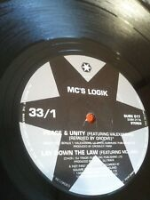 MC'S LOGIK~PEACE AND UNITY/LAY DOWN THE LAW C/W OPERATE/VENDETTA 12""