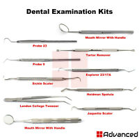 Dental Examination Kits Hygienist Instruments Periodontal Scalers Tooth Scrapers