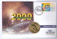 AUSTRALIA 2000 5 DOLLARS AL-BR UNC  KM:356