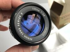 NIKONSeries E 100mm f2.8 MADE IN JAPAN W/ 52mm Pol Filter with Caps EXC COND!