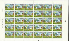 Belgium**The SMURFS-CARTOONS-SHEET 30 stamps-BANDE DESSINEE-SCHTROUMPFS-1984-BD