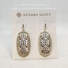 New Kendra Scott Elle Filigree Earrings in Gold / Silver