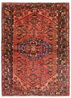 """Hand Knotted Tribal Rust Blue Nomadic Wool Oriental Area Rug 4'4"""" x 7'2"""""""