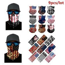 9pcs American Flag Face Balaclava Scarf Neck Fishing Sun Gaiter Headwear 9-Color