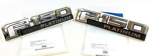 15-18 Ford F-150 Platinum right and left fender Nameplate Emblem Badge set OEM