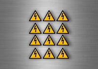 12x autocollant sticker armoire danger electrique signalisation haute tension