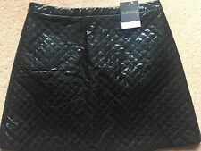 BRAND NEW TOPSHOP PVC SKIRT/  SIZE 12/ BLACK VINYL / QUILTED/ RRP £45/ TRENDING