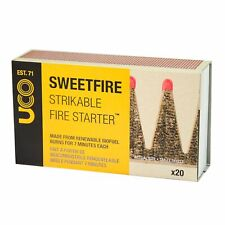 UCO Eco Friendly Sweetfire Strikeable Fire Lighters Firestarters -  Box of 20