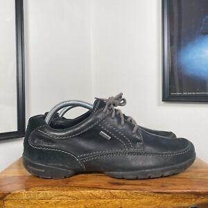 Mens CLARKS GORE TEX Active Air Leather Suede Lace Up Shoes - Black - UK7G/EU41