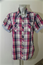 camisa de cuadros de manga corta mujer KAPORAL modelo elen T XL excelente estado