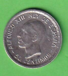 50 Centimos 1926 Ag Spanien Alfonso XIII. stampsdealer