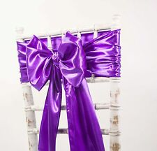 SATIN SASHES AND MATCHING TABLE RUNNERS  WEDDING DECOR 45 COLOURS AVAILABLE