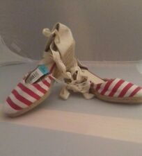 BNWT SIZE 5 Red & White striped wedges. FAST POSTAGE